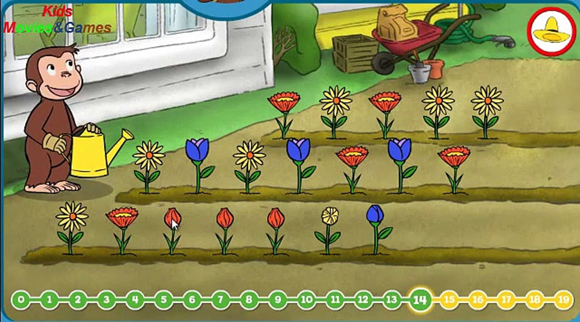 Curious George Flower Garden Education For Kids Games Movies