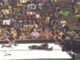 WWF - Jeff Hardy 450 Splash On Matt Hardy