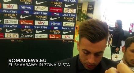 Roma-Udinese, El Shaarawy in zona mista