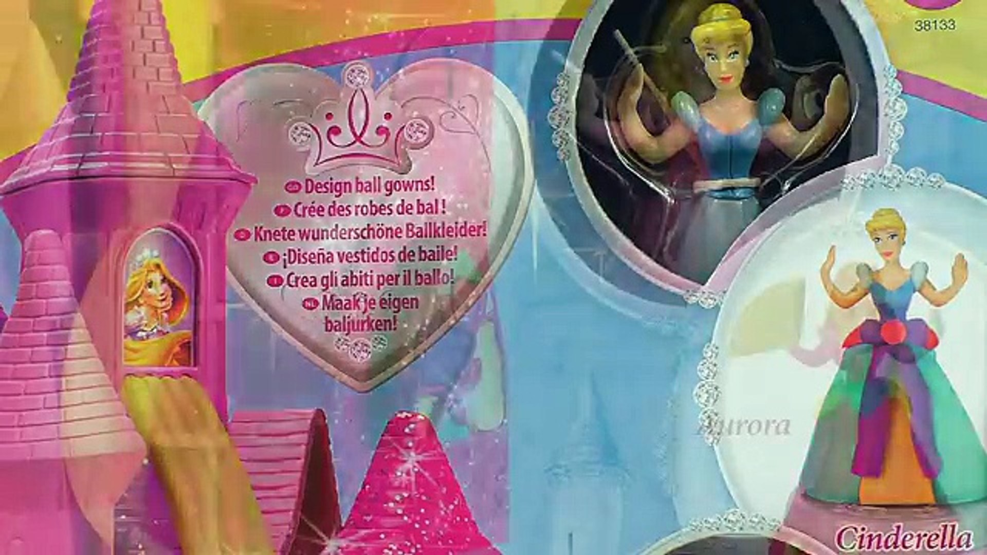Play Doh Disney Prettiest Princess Castle Cinderella Aurora Belle Girl Barbie Games Toys Playsets