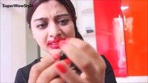 1000 Layers of Lipstick __ EXTREME 100 Layers Challenge! | SuperWowStyle
