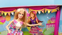 Barbie Chelsea Birthday Party Playset with a Stacie Pink Barbie Doll Toy Review by DisneyCarToys
