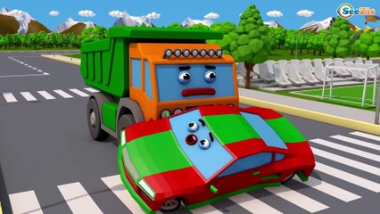 NEW Color Cars & Trucks w 3D Animation Car Cartoon for kids and for babies! Cars & Trucks Stories