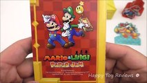 2016 NINTENDO MARIO & LUIGI PAPER JAM SONIC DRIVE-IN SET 5 KIDS MEAL TOYS 3DS COLLECTION REVIEW