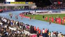 Usain Bolt & Asafa Powell 4x100m Mixed Relay - Nitro Athletics - Melbourne 2017 [1080p] [HD]