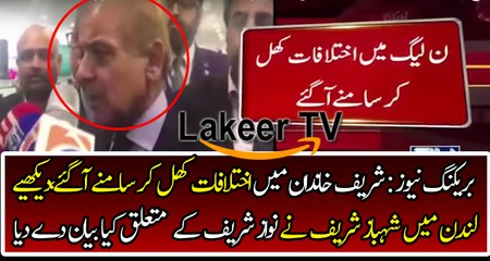 Shahbaz Sharif Stands Against Nawaz Sharif