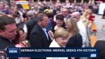i24NEWS DESK | German elections: Merkel seeks 4th victory | Sunday, September 24th 2017