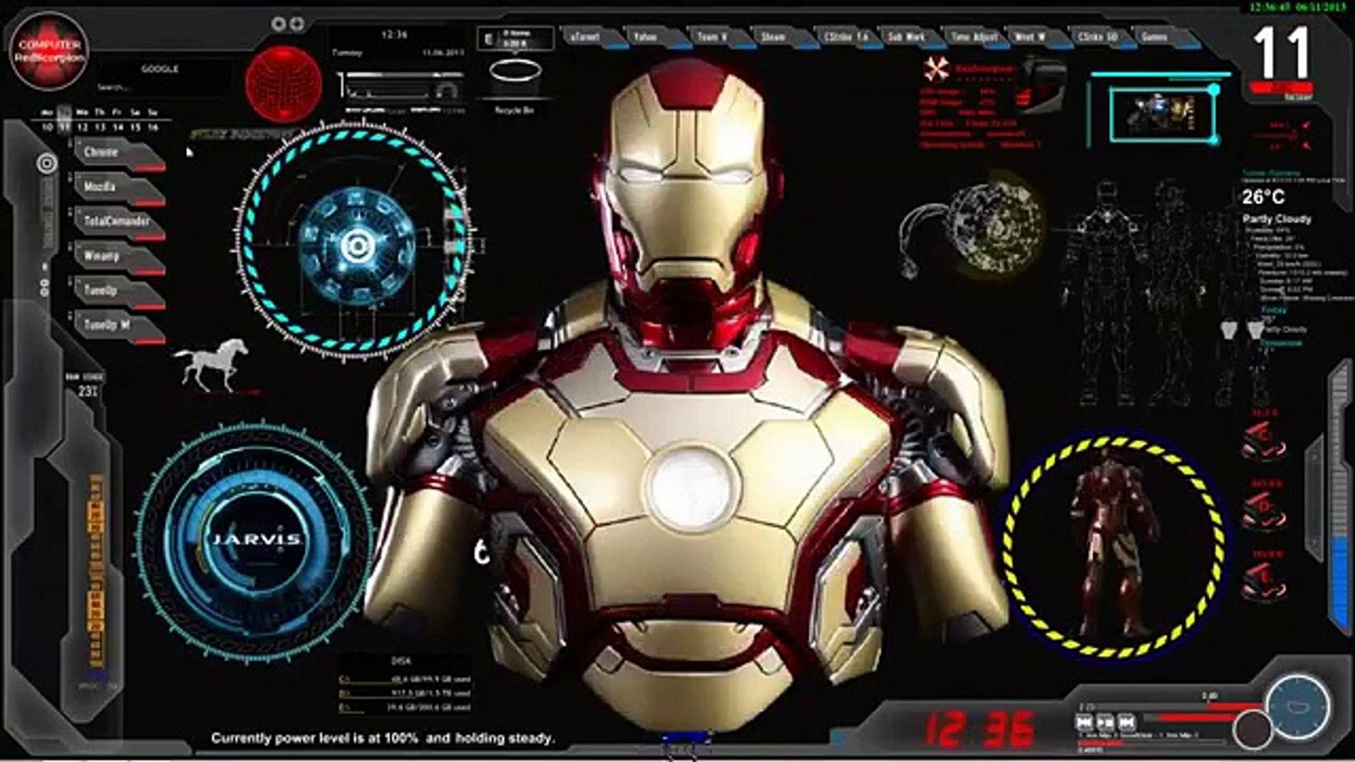 Update Iron Man Jarvis Desktop Animated Live Wallpaper Theme