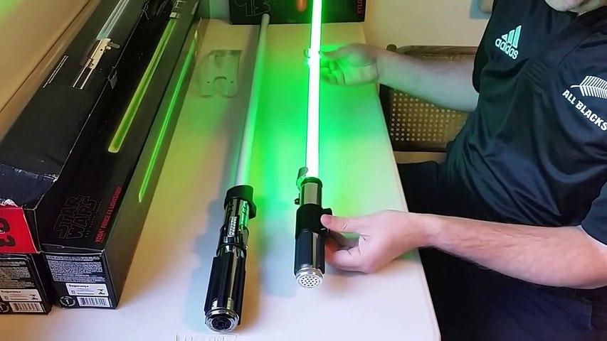 Star Wars The Black Series Force FX Lightsabers Review (Luke Skywalker,  Yoda, Vader, & Kylo Ren)