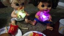 BABY ALIVE McDonalds & Mario Dance Party!