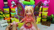 GIANT STELLA Surprise Egg Play Doh - Winx Club Disney Princess Little Kingdom Toy Story MLP Toys