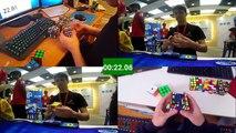 Rubiks Cube World Record Race Kevin VS Feliks VS WCA Records VS Best Of Feliks And Kevin