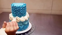 How To Make Rose Swirl Buttercream Cake - Rosas con crema de mantequilla by Cakes StepbyStep