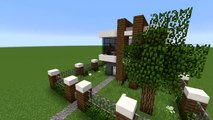 Minecraft How To Build A Small Modern House Tutorial Easy Survival