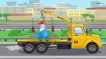 The Yellow Tow Truck helps Cars Friends | Service & Emergency Vehicles Cartoons