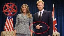 ¿Illuminati real?: Enrique de Gales hace una señal 'endiablada' en su encuentro con Melania Trump