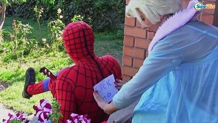 Spiderman & Frozen Elsa CHALLENGE! w/ Maleficent Joker Spidergirl TOYS! Superhero Fun IRL