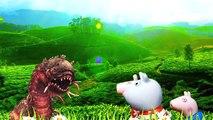 Peppa Pig e Pig George são atacados por minhocas monstruosas e salvos pelo Superman Minecraft