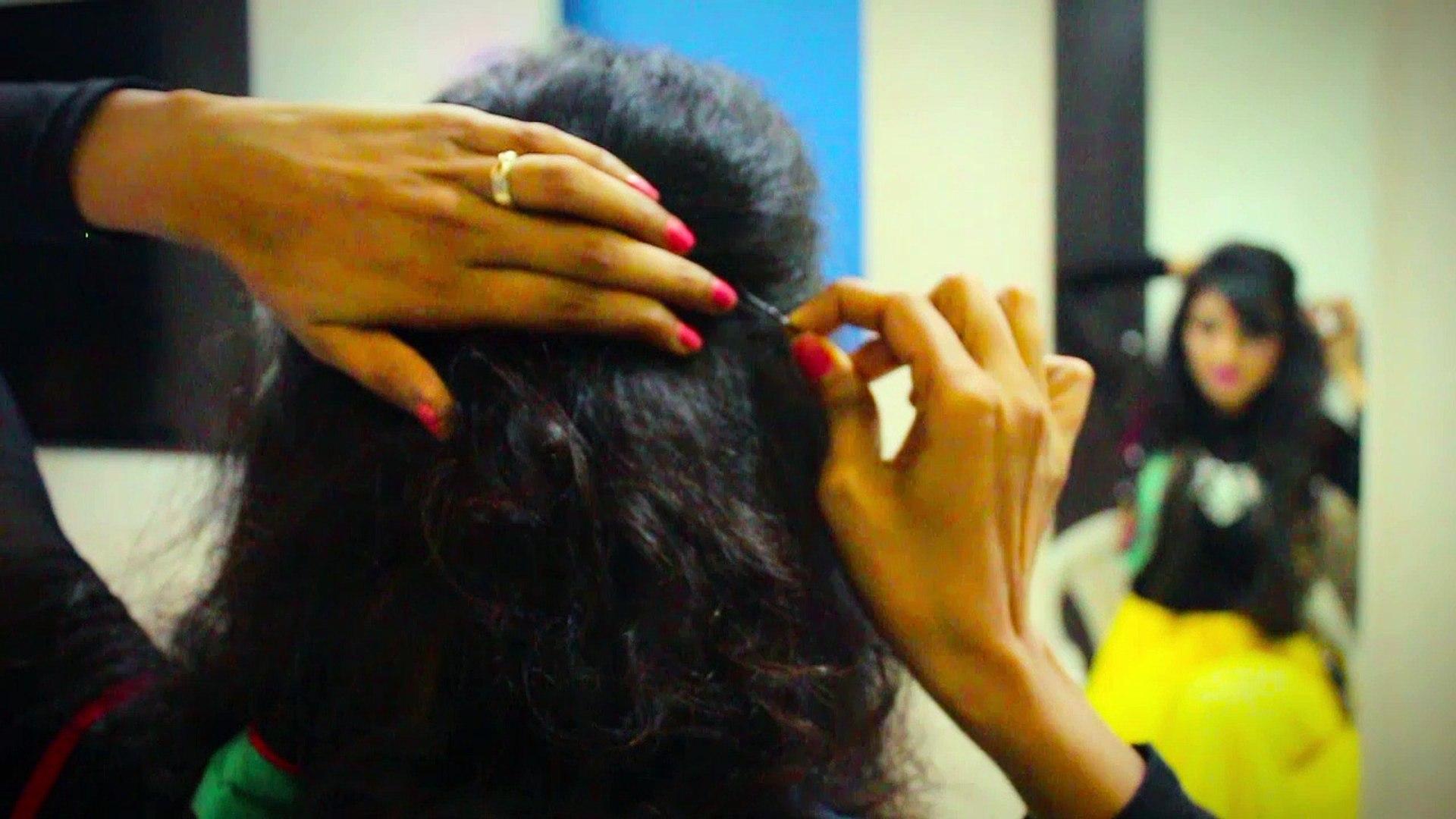 Navratri Hair Style Tutorial   Naari   Hair Style At Home   Navratri Makup   Hair Style 2017