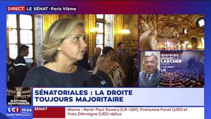 Réaction de Valérie Pécresse aux résultats des élections sénatoriales sur LCI