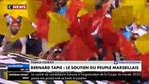 """L'hommage des supporters de l'OM hier soir à Bernard Tapie au Stade Vélodrome : """"Bernard dans cette épreuve reste le bos"""