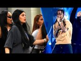 Kylie Jenner Covers Baby Bump At IHeartRadio Music Festival