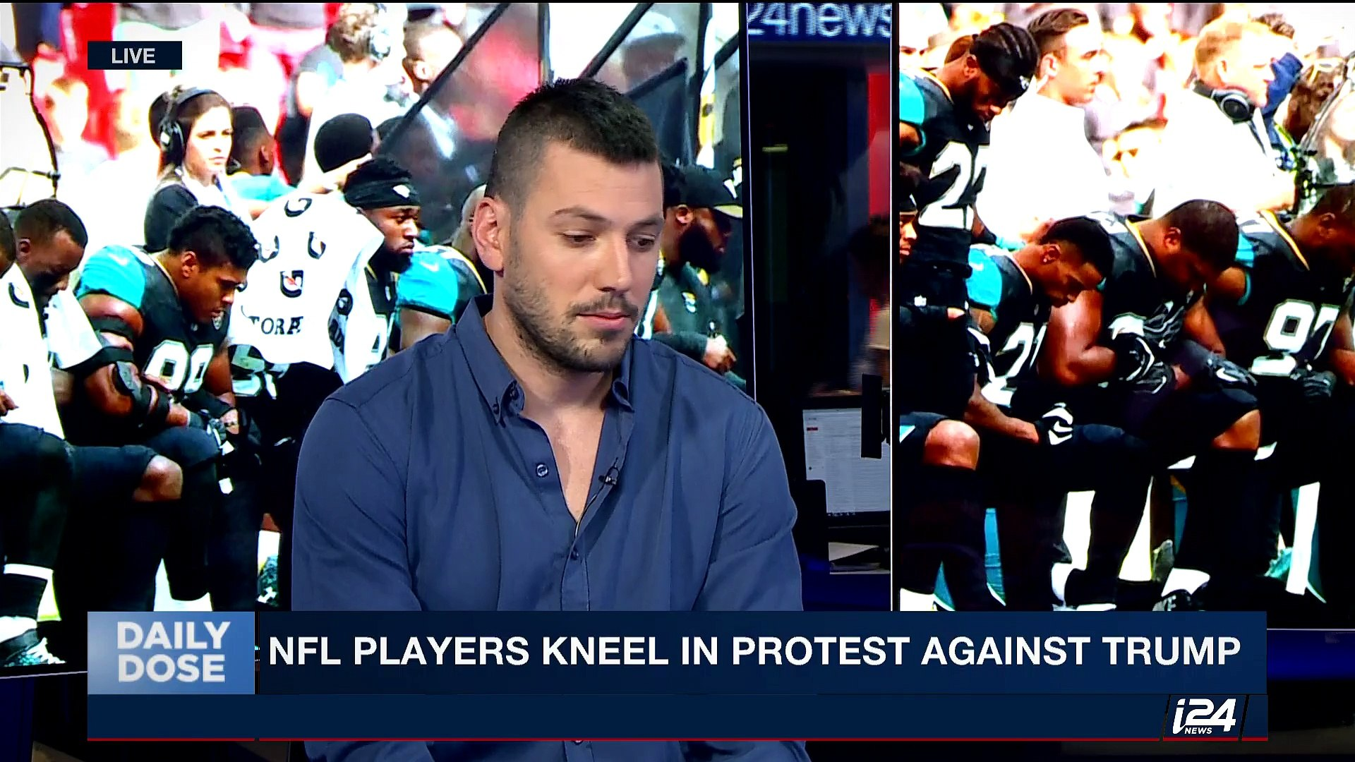 DAILY DOSE |  NFL players kneel during anthem to defy Trump | Monday, September 25th 2017
