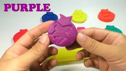 Play Doh Ice Cream Learn Colors For Kids Animal Molds Angry Birds Elephant Fun and Creativ