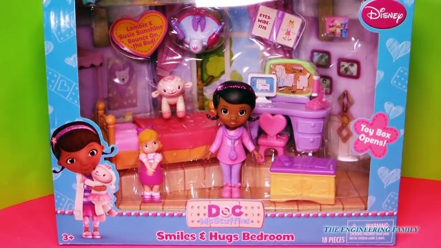 DOC MCSTUFFINS Disney Doc McStuffins Smiles & Hugs Lambie Bedroom Toys Video Parody