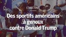 Etats-Unis : des dizaines de sportifs américains à genou pour protester contre Donald Trump