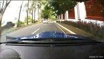 Deux voitures Subaru Impreza en course très dangereuse aux Philippines