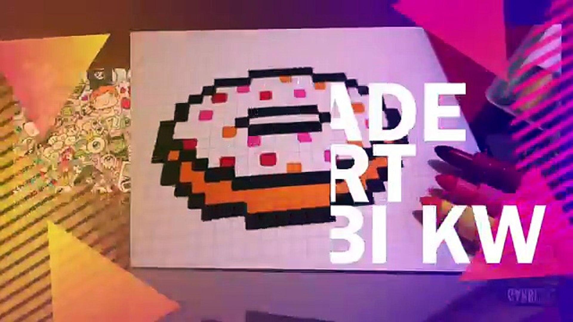 Handmade Pixel Art How To Draw A Kawaii Donut By Garbi Kw Pixelart