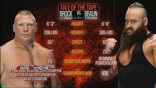 WWE No Mercy 2017 - Brock Lesnar vs Braun Strowman
