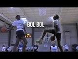Bol Bol Is a CHEAT CODE   Manute Bol's 7 Foot Son DESTROYS Top Rank Showcase With Ease
