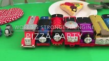 Pizza Party Time! Worlds Strongest Engine with Thomas & Friends Trackmaster and Minis!