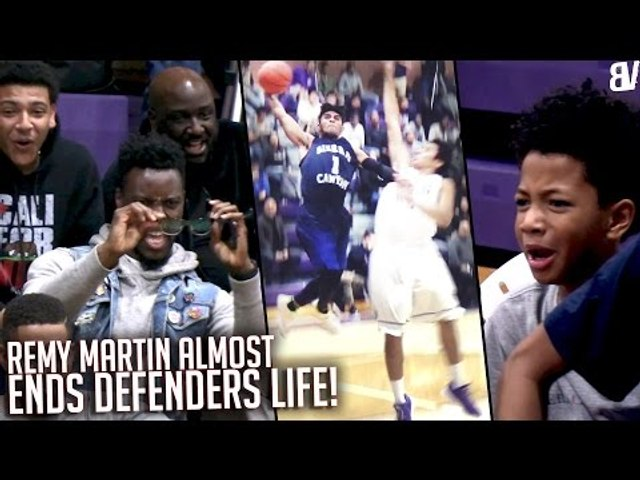 """5'11"""" Remy Martin POSTER Attempt Left Crowd With STINK FACE + Marvin Bagley Dunks Get Lil Bro HYPE!"""