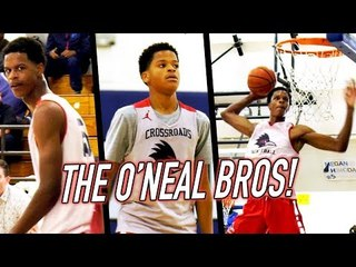 Shareef O'Neal SUPER SLAMS + Younger Bro Shaqir FIRST BUCKET IN HIGH SCHOOL!
