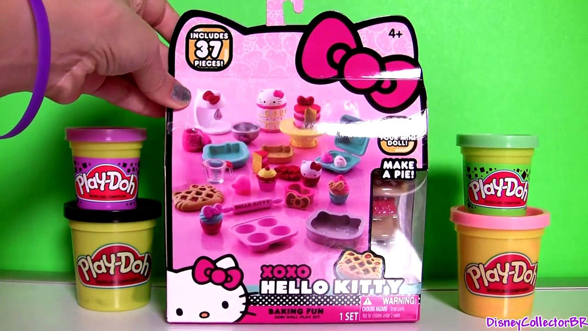 Play Doh Hello Kitty Xoxo Baking Fun Set Donuts Patisserie ャラクター練り切り Ïローキティ Kitchen Baking Toy Video Dailymotion