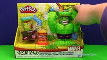 PLAY DOH Marvel Incredible Hulk & IronMan Can Head Play Doh Toys Video Unboxing