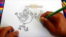 How to Draw SWAY SWAY & BUHDEUCE Breadwinners Nickelodeon ,  Dibujar Sway Sway y Buhdeuce