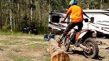 Dirt Bike Log Crossing - Off Road Riding Technique - Enduro Riding