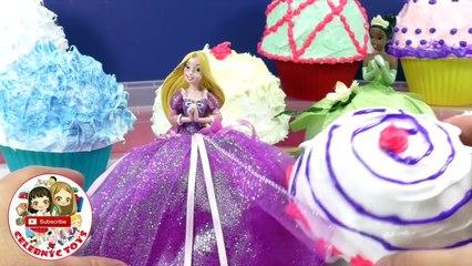 Disney Princess Cupcake Surprise Toys Cinderella Ariel - Bonecas Cupcake Surpresa Princesas