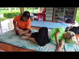 Thai Medical Massage Techniques -Right Side, Wat Nong Khun Chat, Thailand