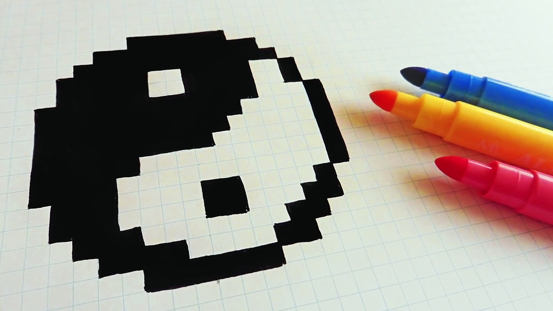 Handmade Pixel Art How To Draw Yin Yang Pixelart
