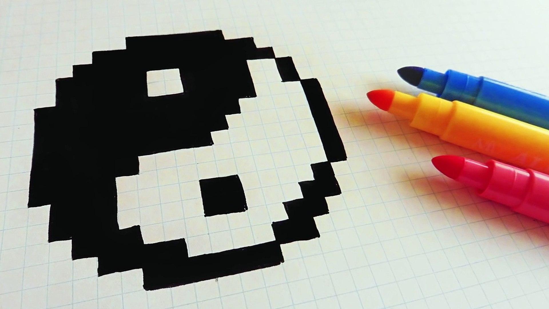 Handmade Pixel Art How To Draw Yin Yang Pixelart