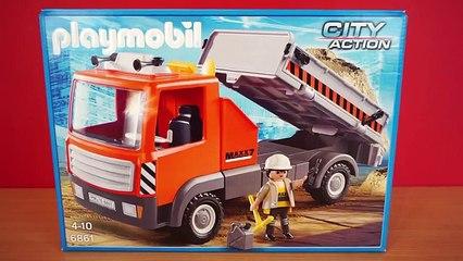 Baustellen LKW - 6861 Playmobil City Action - Film Deutsch Lastwagen Bagger 6860 Baustelle