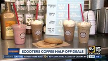 Get half off drinks at Scooter's coffee