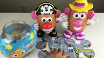 FISH & CHIPS Family Fun Kids Game Mr & Mrs Potato Head Learn COLORS Marvel Egg Surprise Toy