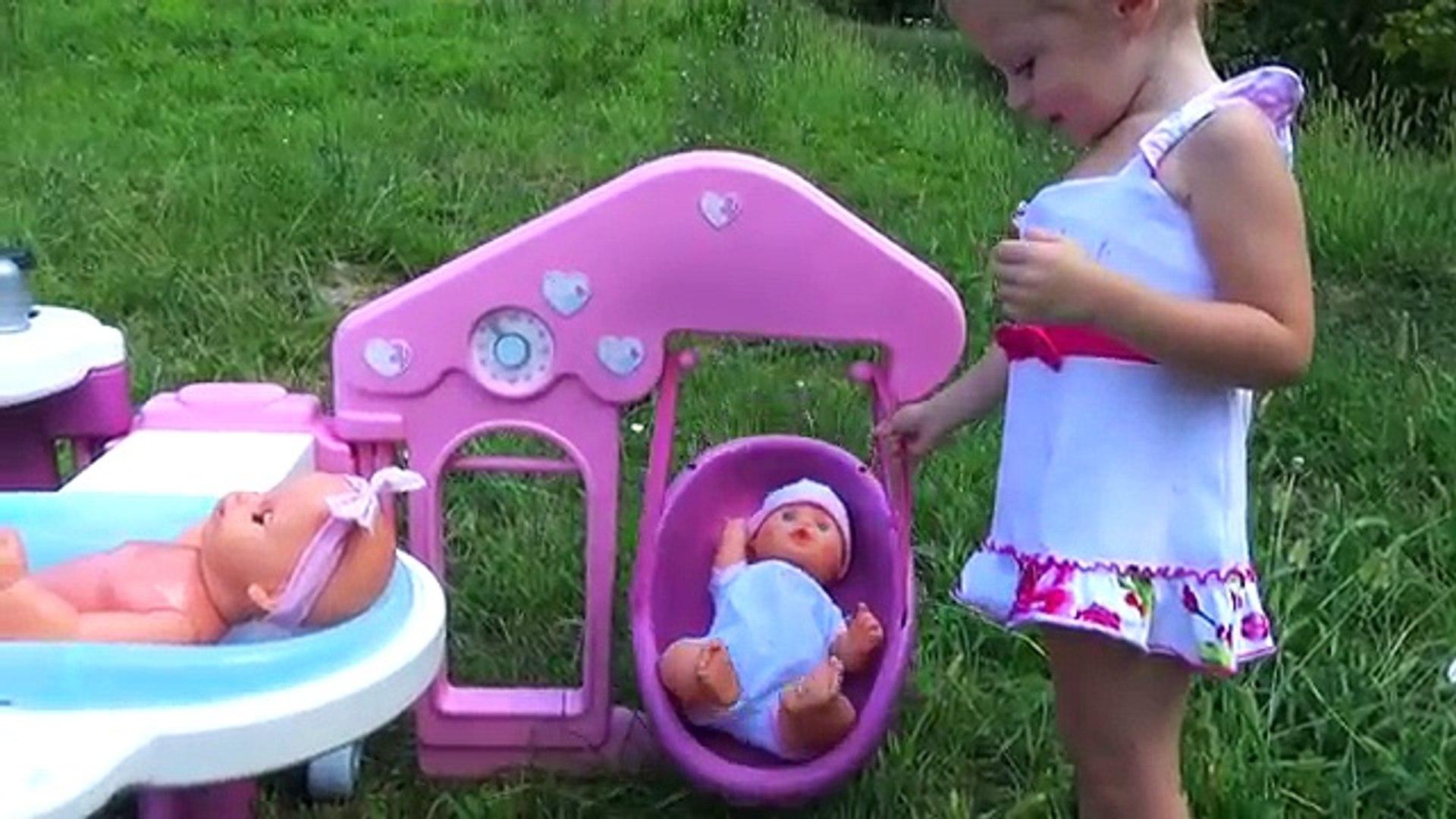 Беби бон кукла и Пупсики. Играем в куклы с новым набором Baby Born Игры для девочек Новые Игрушки