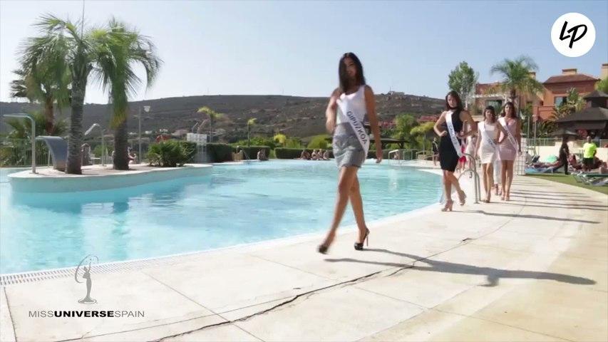 La candidate espagnole à Miss Univers 2017 chute dans la piscine